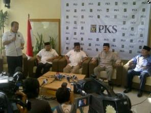Foke - Nara saat Deklarasi Dukungan di DPP PKS