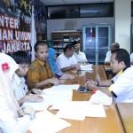 Pengurus DPW PKS Jakarta datang ke KPUD Jakarta (foto : Budiarto)