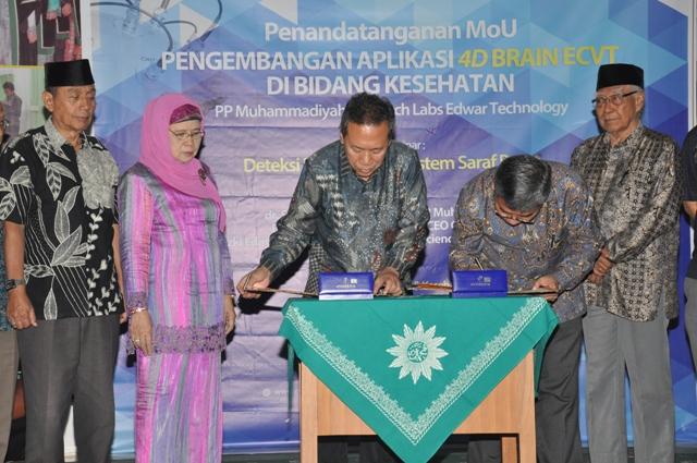 C-Tech Labs dan PP Muhammadiyah Kerjasama Kembangkan Aplikasi 4D Brain ECVT