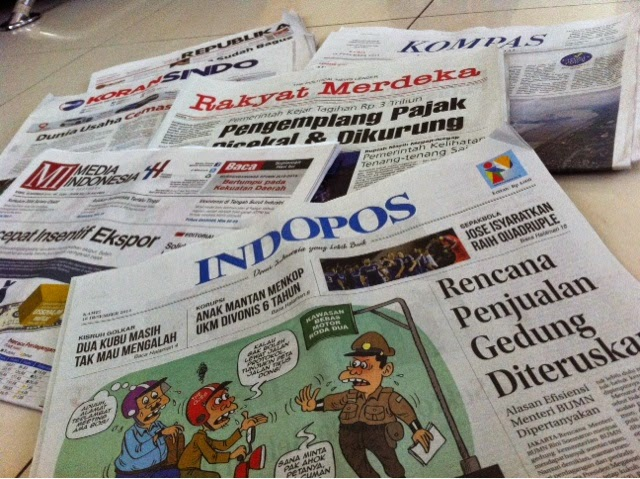 Headline Harian Nasional 18 Desember 2014