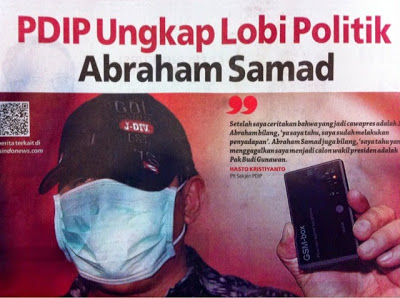 Headline Harian Nasional 23 Januari 2015, PDIP Ungkap Lobi Politik Abraham Samad