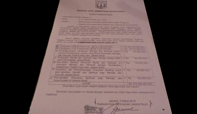 Gara-gara Dimarahin Ahok, Walikota Jakbar Kirim Surat. Apa isinya?