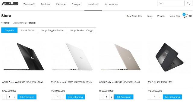 ASUS Menghadirkan Lini Notebook di ASUS Store Indonesia