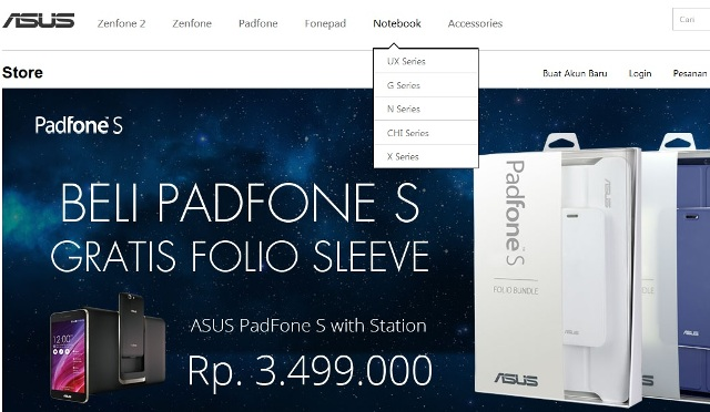 Beli Notebook di Asus Store, Gratis Ongkos Kirim