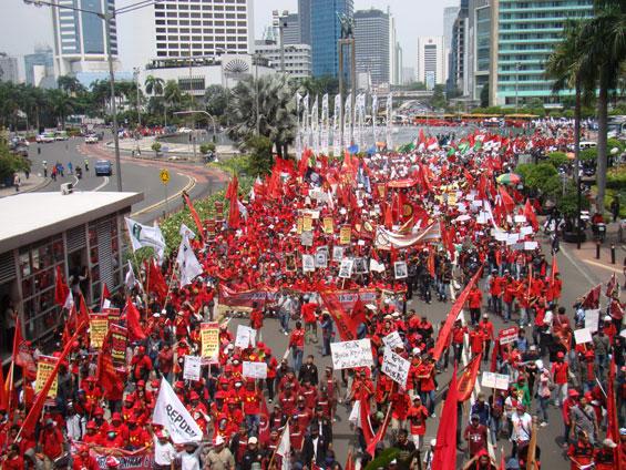 Pra May Day, Jumhur Tegaskan Perjuangan Buruh Belum Selesai