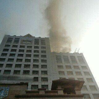 Asap Membumbung Tinggi Membakar Ruang Sauna Kantor Walikota Jakarta Selatan