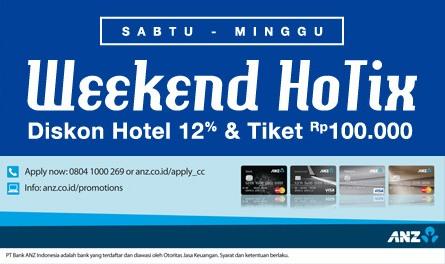 Weekend Hotix, Hemat 12% Hotel dan Tiket Pesawat Rp 100.000