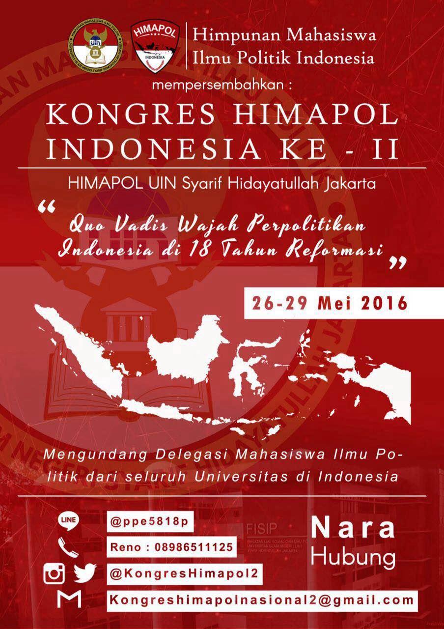 Kongres Himapol Nasional Ke-2, Kami Akan Menggugat Janji Reformasi !