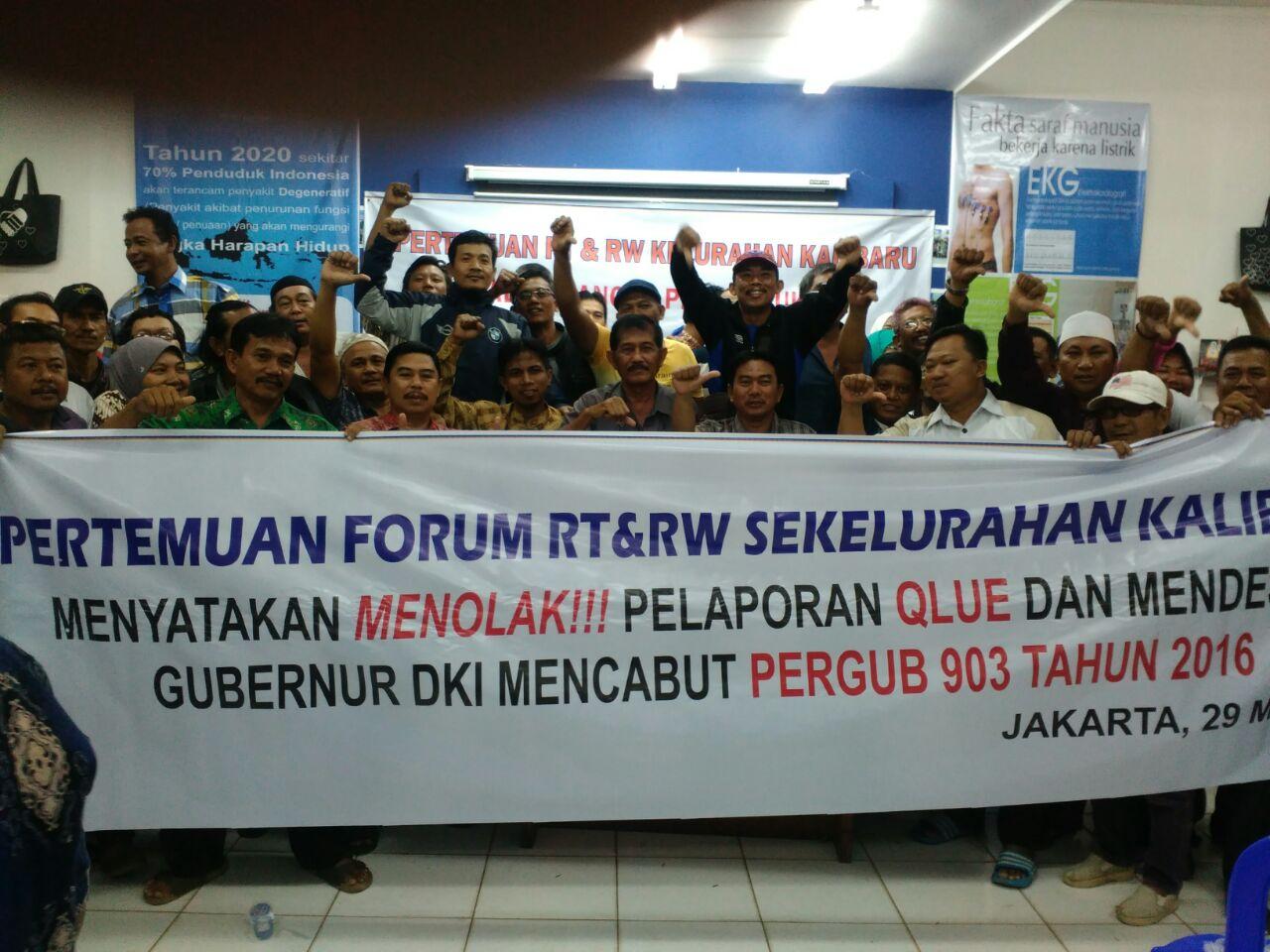 Diharuskan Laporan Via Qlue, RT/RW se-DKI Ancam Boikot Pilkada