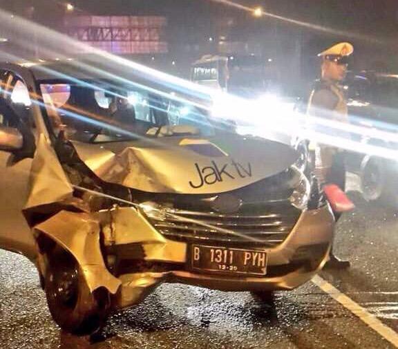 Mobil JAK TV Kecelakaan, Masih dalam Penanganan