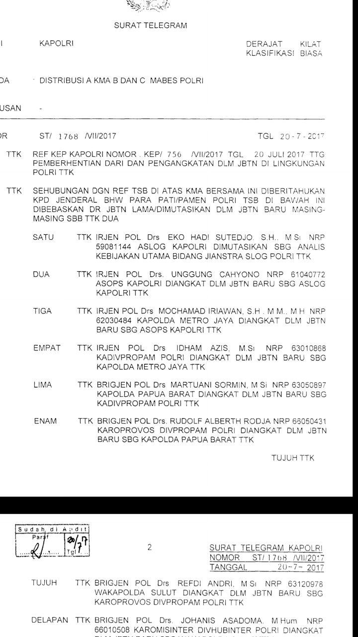 Kapolda Metro Jaya Diganti Mendadak, Ada Apa?