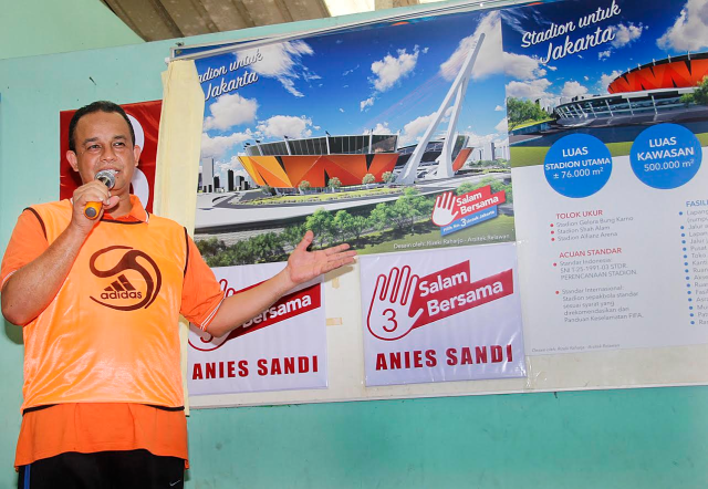 Komitmen Anies-Sandi Mulai Tercapai Satu-Persatu, Stadion Persija Siap Dibangun 2018