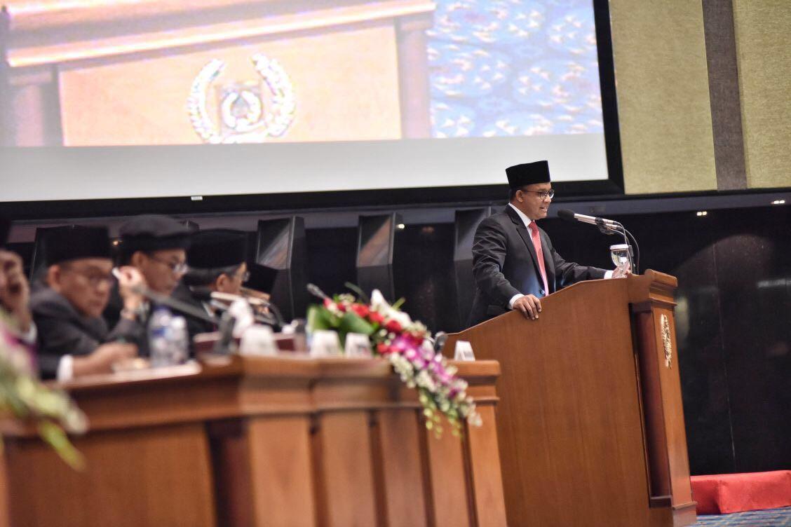 Gubernur Anies Singgung Soal Reklamasi dalam Pidato di Hadapan Dewan