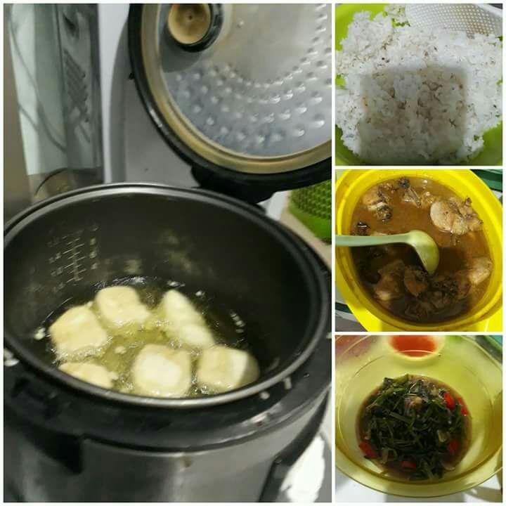 Kehabisan Gas Saat Masak, Peraih Ummi Awards Ini Menggoreng Tahu Pakai Rise Cooker Magic Com