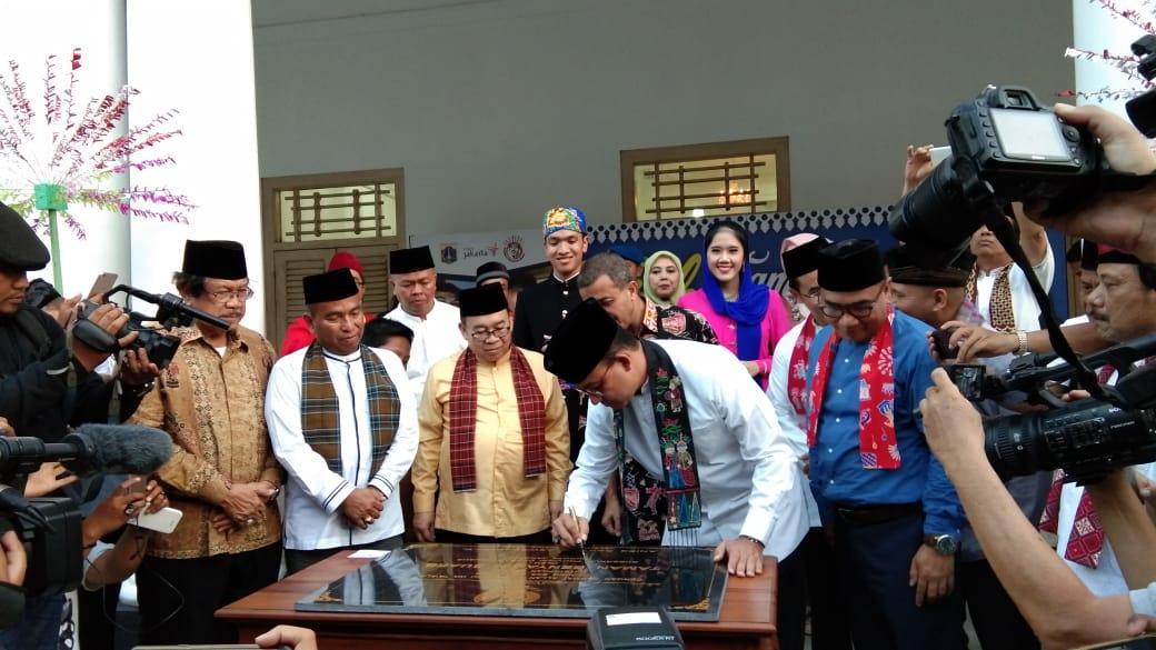 Gubernur Anies: Taman Benyamin Suaeb Rujukan Kebudayaan Betawi di Jakarta