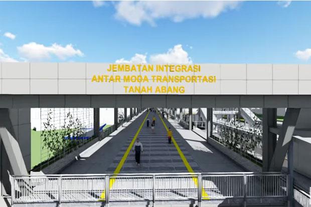 Pembangunan Skybridge Tanah Abang Dipastikan Tidak Ganggu Lalu Lintas