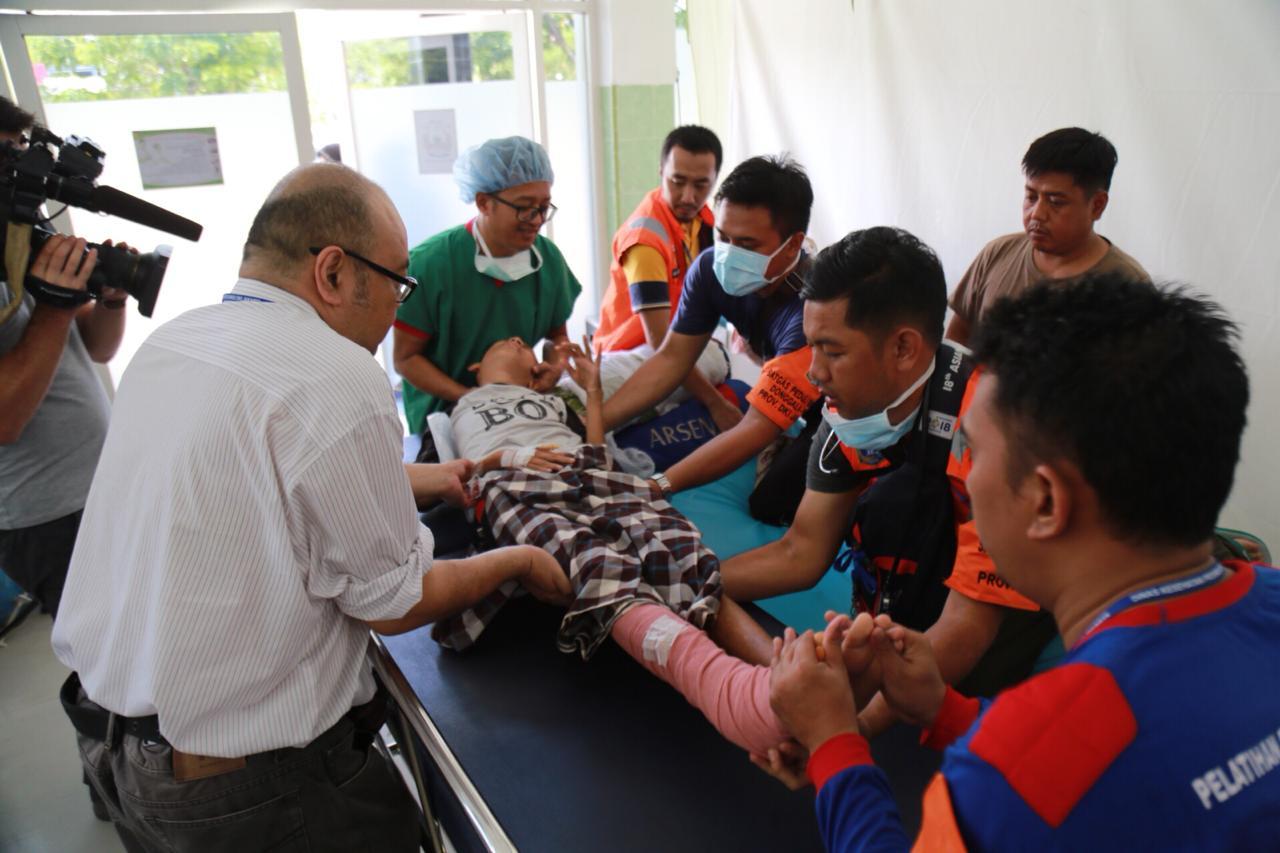 Dokter Tim Tanggap Ibukota Gerak Cepat Tangani 12 Korban Gempa Palu dalam Dua Hari