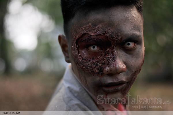 Zombie di Festival Halloween Jakarta