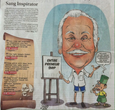 Headline Harian Nasional 20 Januari 2015, Turut Berduka atas Wafatnya Om Bob Sadino