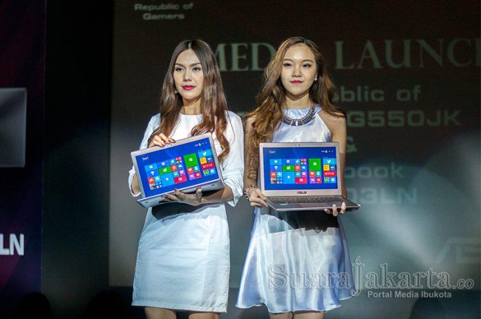 Launcing 2 produk Asus ultrabook seri Zenbook UX303LN dan seri Republic of Game (ROG) G550JK di Jakarta (13/01). (Foto: Fajrul Islam/SuaraJakarta)