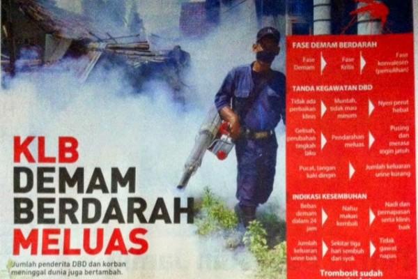 Headline Harian Nasional 4 Februari 2015, KLB Demam Berdarah Meluas