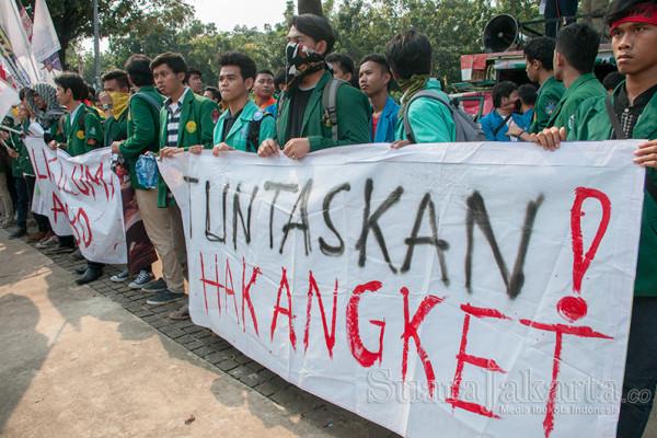 Mahasiswa Minta DPRD DKI Tuntaskan Hak Angket