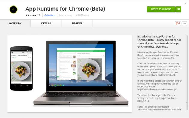 App Runtime for Chrome