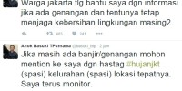 Jakarta Utara dan Timur Mulai Kebanjiran, Ahok Hanya Bisa Ngetweet?