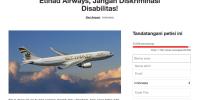 Maskapai Ini Dipetisi Ribuan Netizen Karna Tolak Penumpang Disabilitas
