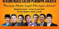 Seluruh Bacagub DKI Berlatar Belakang Muslim Sepakat Usung 1 Calon Lawan Ahok