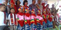 Syukuran, Warga Potong Tumpeng Di RPTRA Kampung Benda