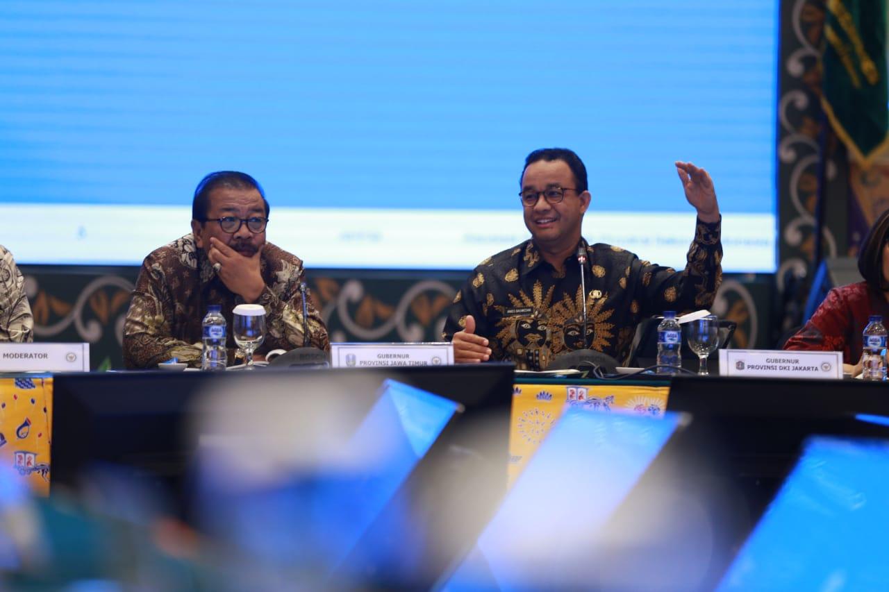 Rapat Kerja APPSI, Gubernur Anies Paparkan Potensi Kerjasama Stabilitas Harga Pangan